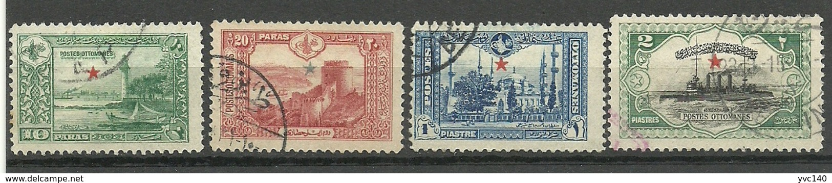 Turkey; 1914 Star Overprinted Stamps For Exterior - 1858-1921 Ottoman Empire
