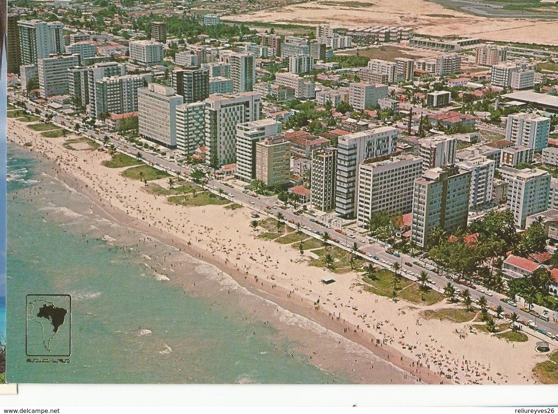CPM, Brésil , N° 700-61, Recife, Vista Aerea ,Praia De Boa Viagem, Ed. Ecucard 1979 - Recife