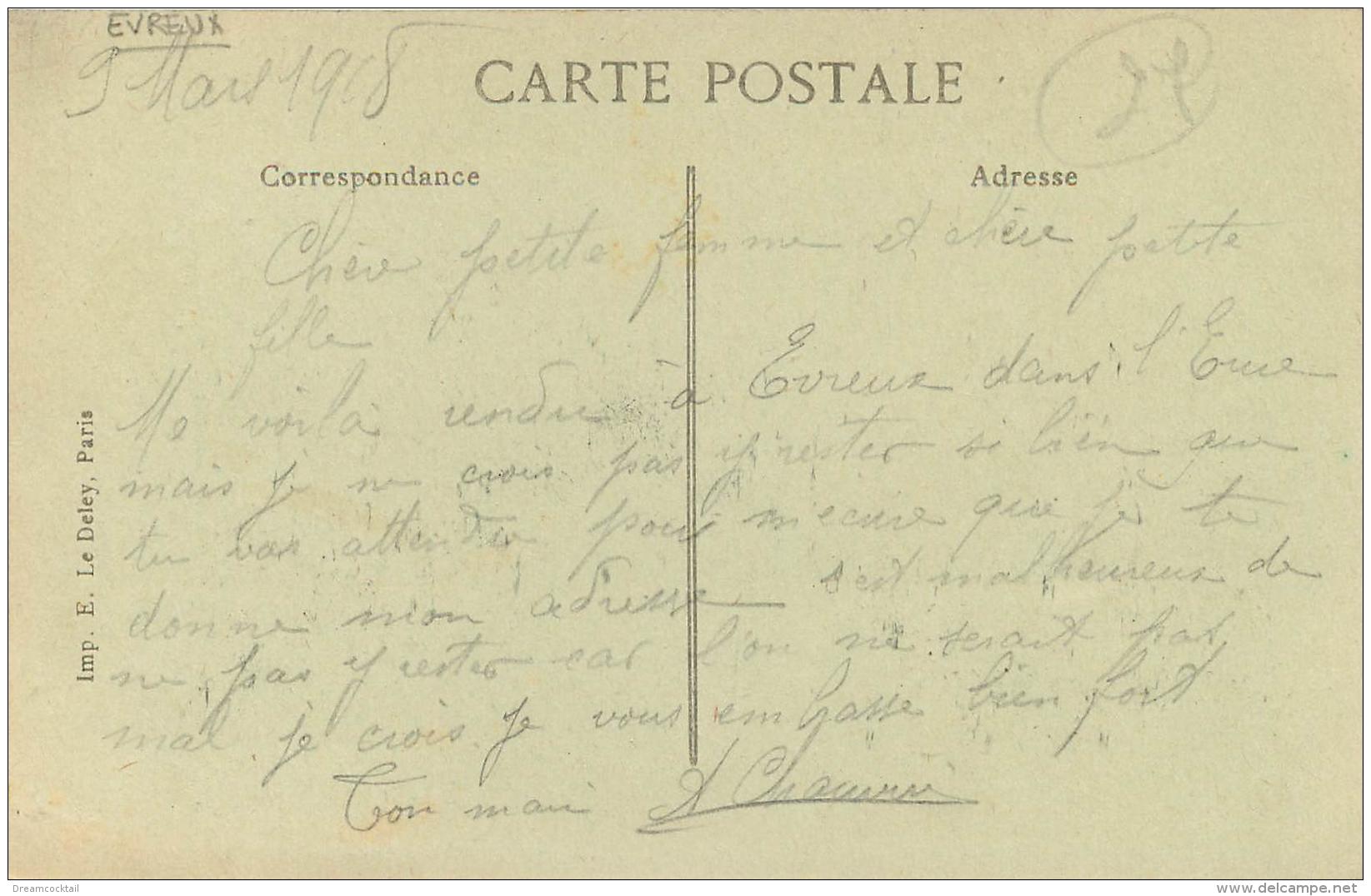 WW  27 EVREUX. Rare Centre Hospitalier 1918. Allée Centrale Et Les Baraquements Militaires Cliché Bouloc - Evreux
