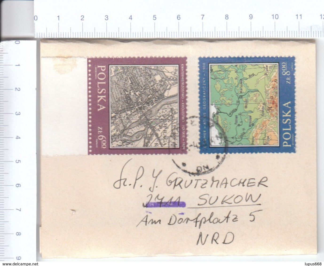 Polen 1982 MiNr. 2845, 2846 Auf Streifband/ Strip Band ; Histor. Landkarten; Dabei Polen, Stadtplan Von Prag - Geographie