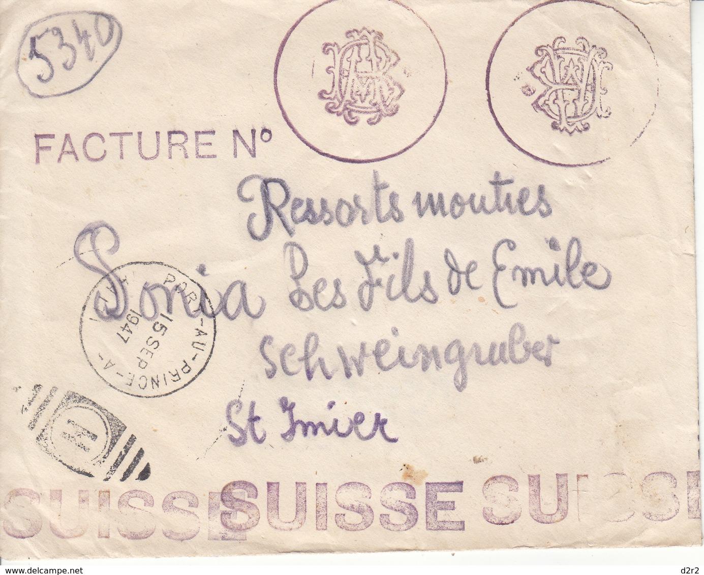 LETTRE DE 1947 POUR LA SUISSE - A VOIR IMAGES - Haïti