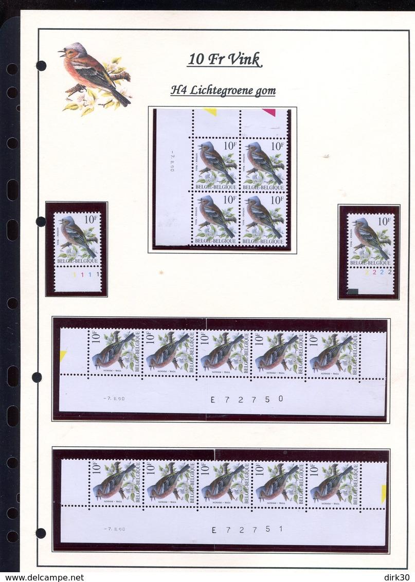Belgie 2351 H4 RRR Buzin Vogels Birds Feuille De Collection Numéro De Planche Plaatnummer Drukdatum - 1985-.. Oiseaux (Buzin)