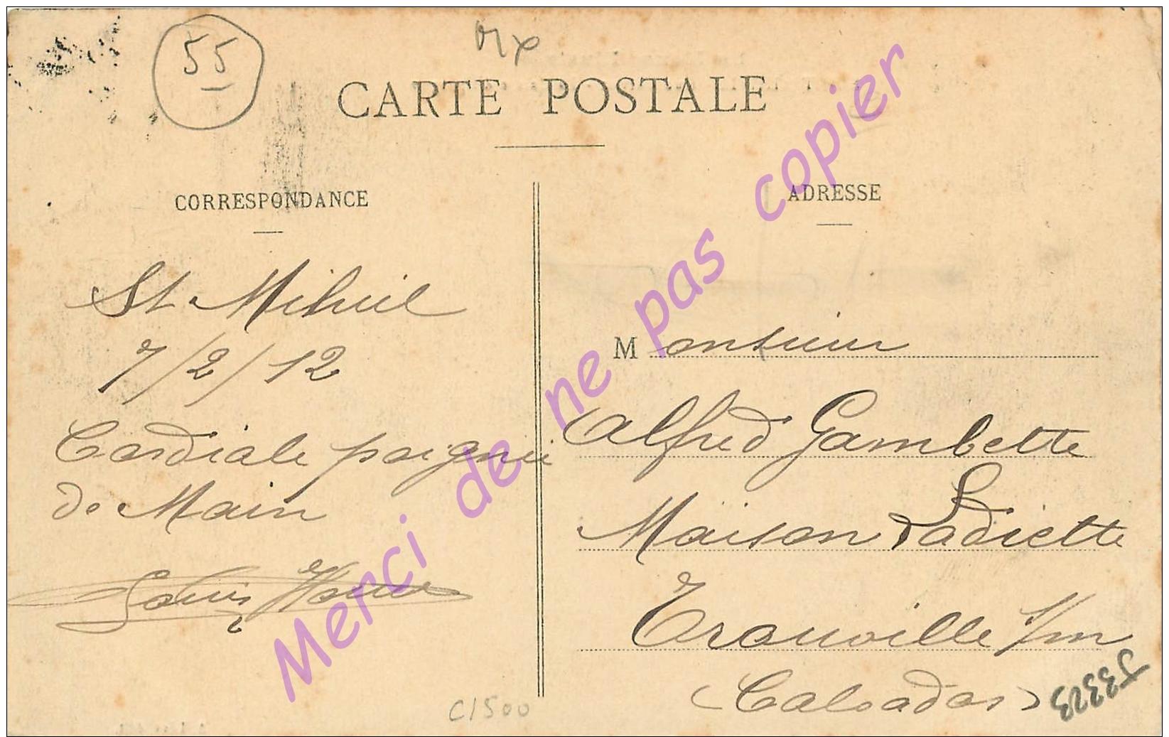 55. SAINT MIHIEL . Rue Carnot . La Caisse D'Epargne .  CPA Animée . - Saint Mihiel