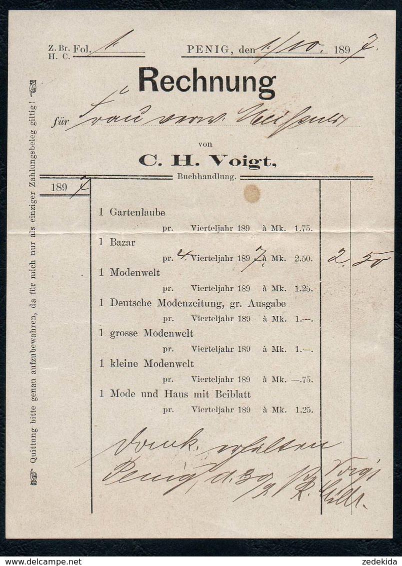 B6482 - Penig - Rechnung C.H. Voigt - Allemagne