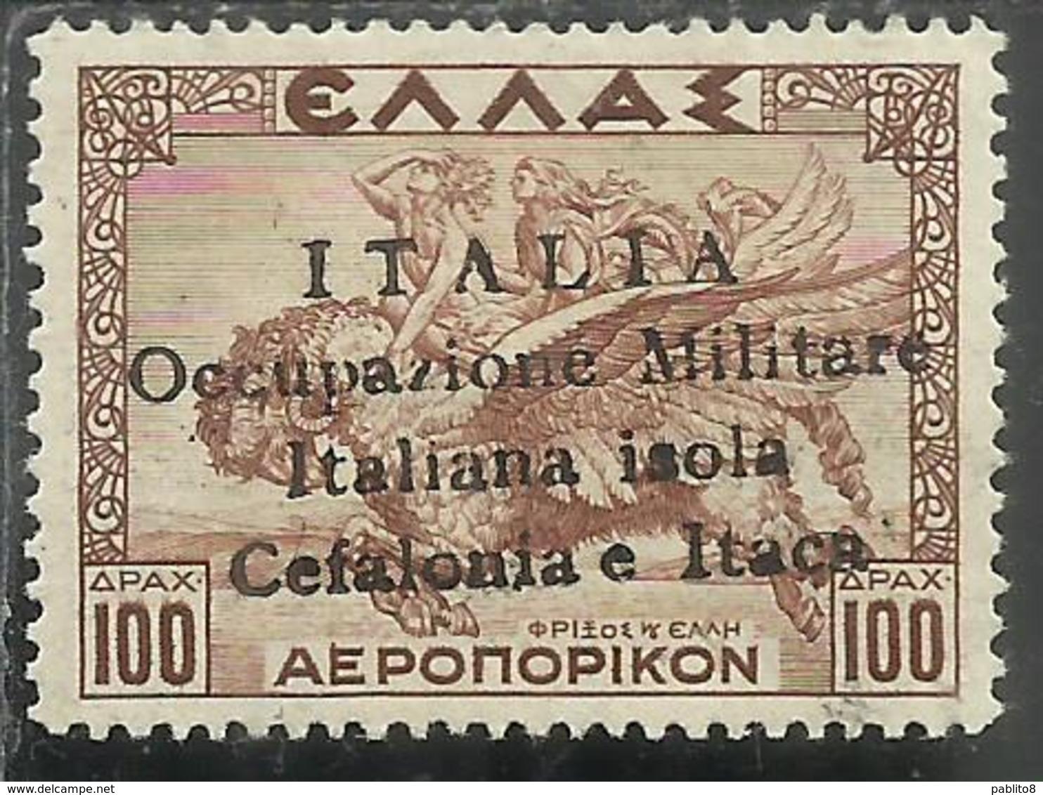 CEFALONIA E ITACA 1941 MITOLOGICA DRACME 100D MNH FIRMATO SIGNED - Cefalonia & Itaca