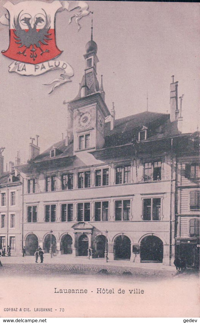 Lausanne, Hôtel De Ville, Armoirie La Palud, Litho (70) - VD Vaud