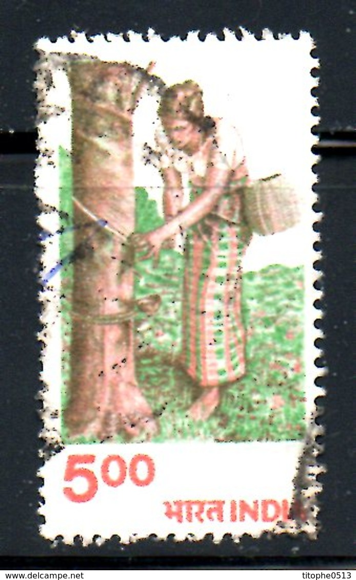 INDE. N°631 Oblitéré De 1980. Récolte Du Caoutchouc. - Agriculture