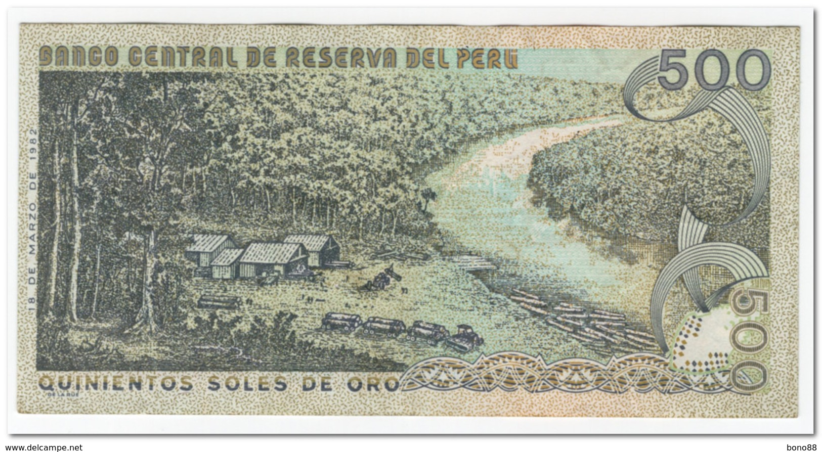 PERU,500 SOLES DE ORO,1982,P.125A,XF,FEW PINHOLES - Peru