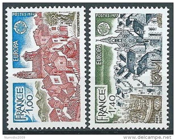 1977 EUROPA FRANCIA MNH ** - EV - Europa-CEPT