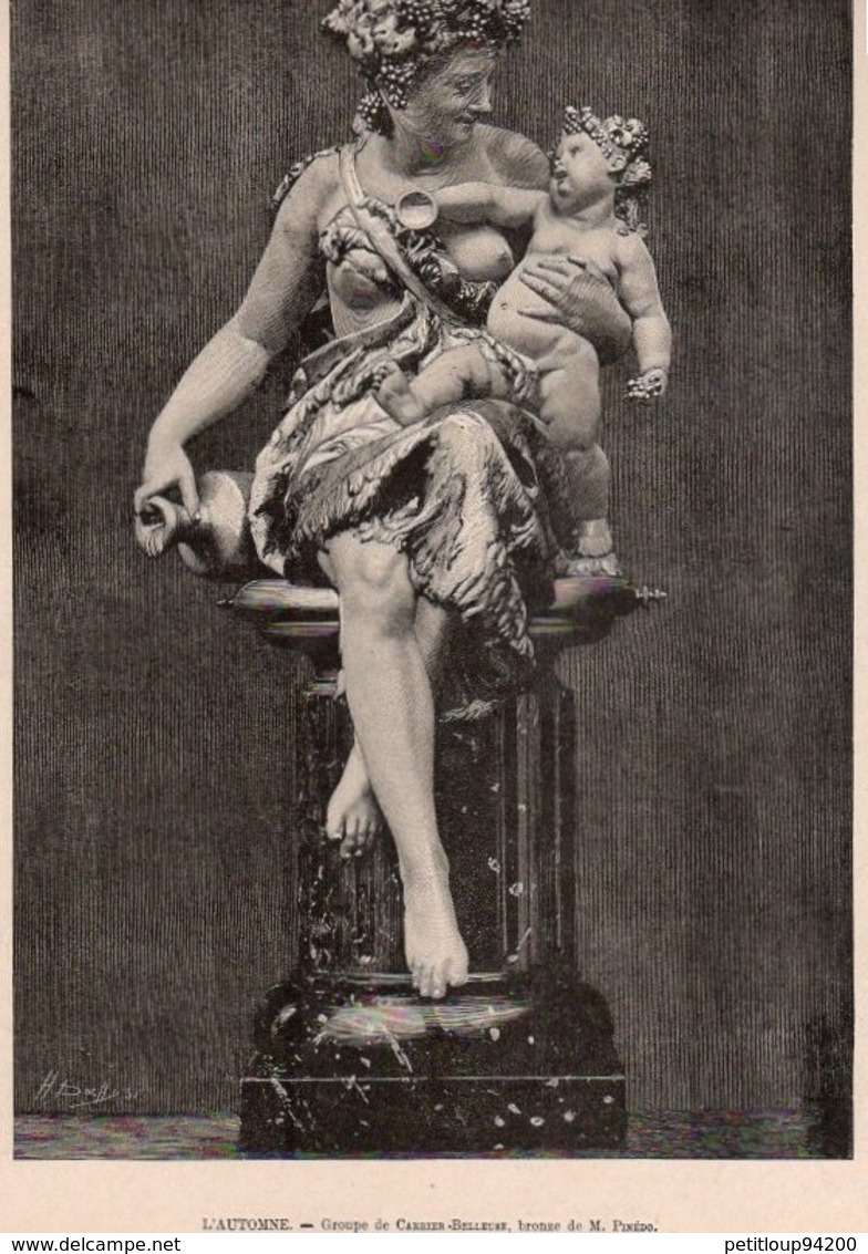 2 ESTAMPES LE MONDE ILLUSTRE *M.Massenet Dans Son Salon MM. DORNAC Et Cie *L'Automne CARRIER-BELLEUSE  M.PINEDO - Prints & Engravings