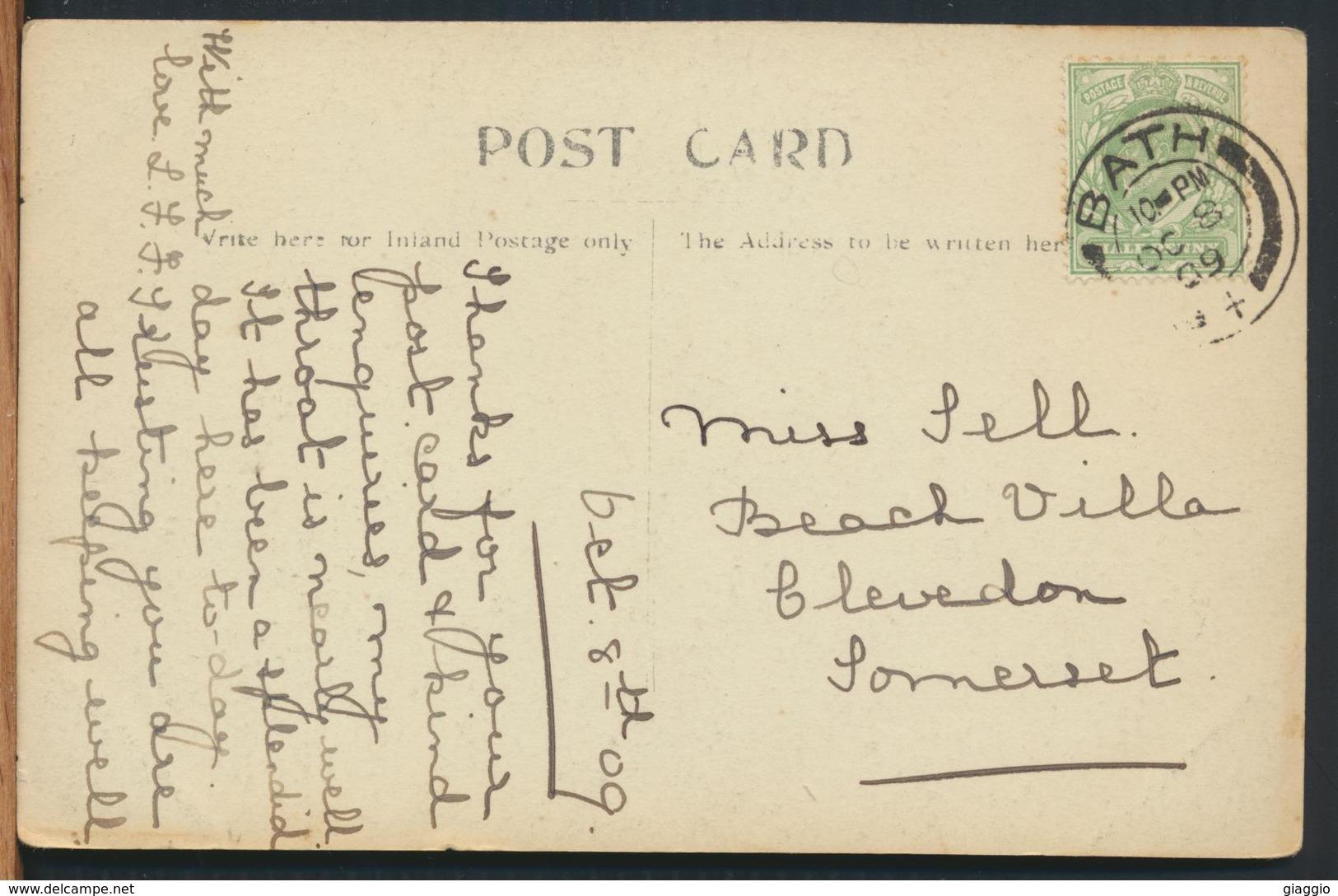 °°° 11897 - UK - BATH - 1909 With Stamps °°° - Bath