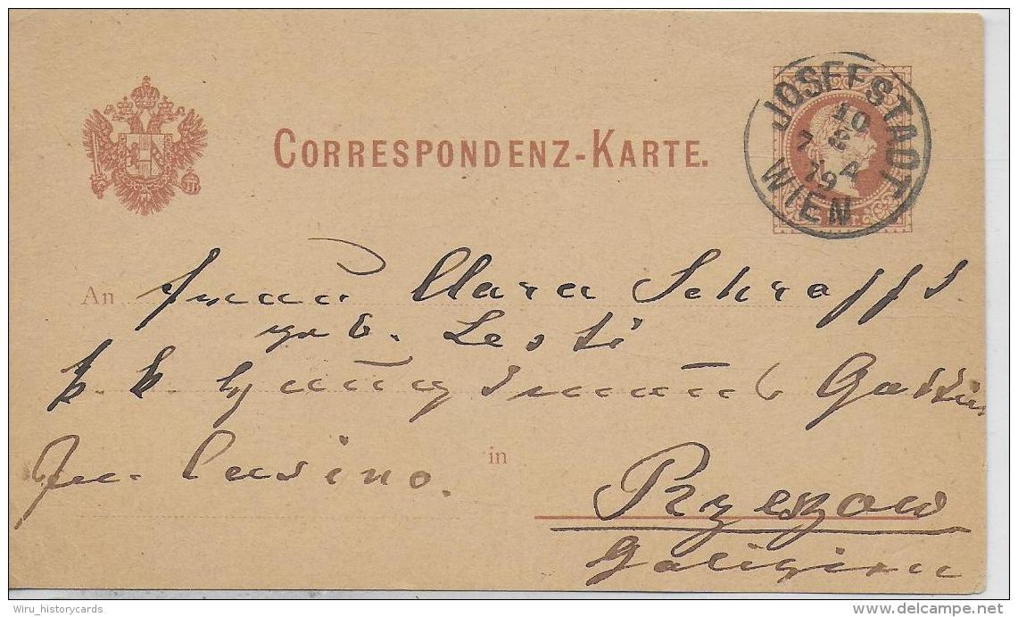 AK 0023  Correspondenz-Karte - Josefstadt Wien Um 1879 - 1850-1918 Imperium