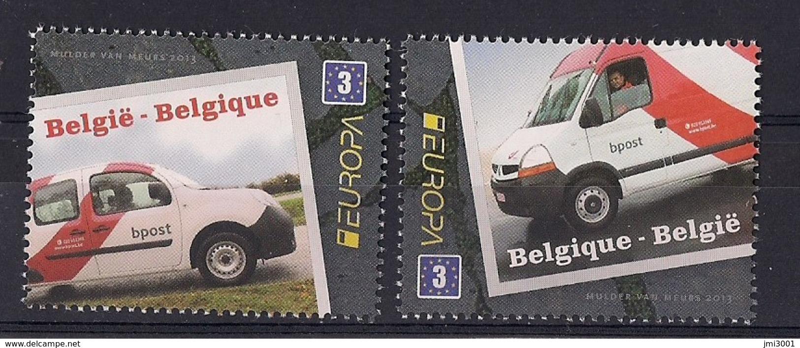 Belgique 2013 COB 4312/13 XX Camionnettes De Bpost. Europa - Belgium