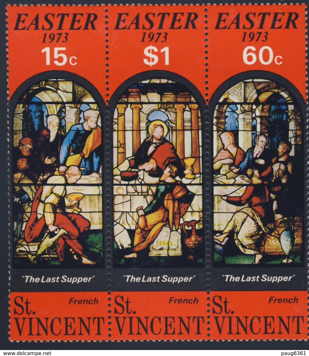 ST VINCENT 1973 PAQUES  YVERT N°332/34  NEUF MNH** - Easter