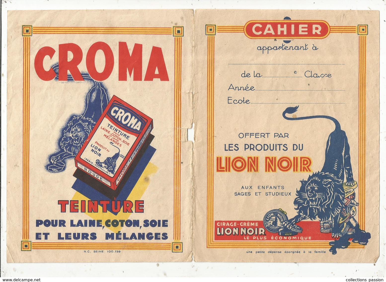 Couverture De Cahier , LION NOIR, CROMA ,MIROR ,ARGENTIL , DIABOLIC ,LEOR , Frais Fr 1.75 E - Protège-cahiers