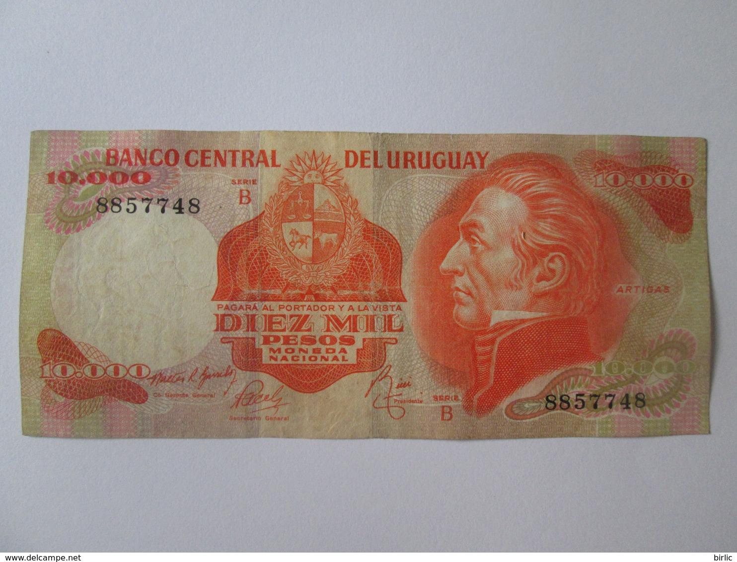 Uruguay 10000 Pesos 1974 Banknote - Uruguay