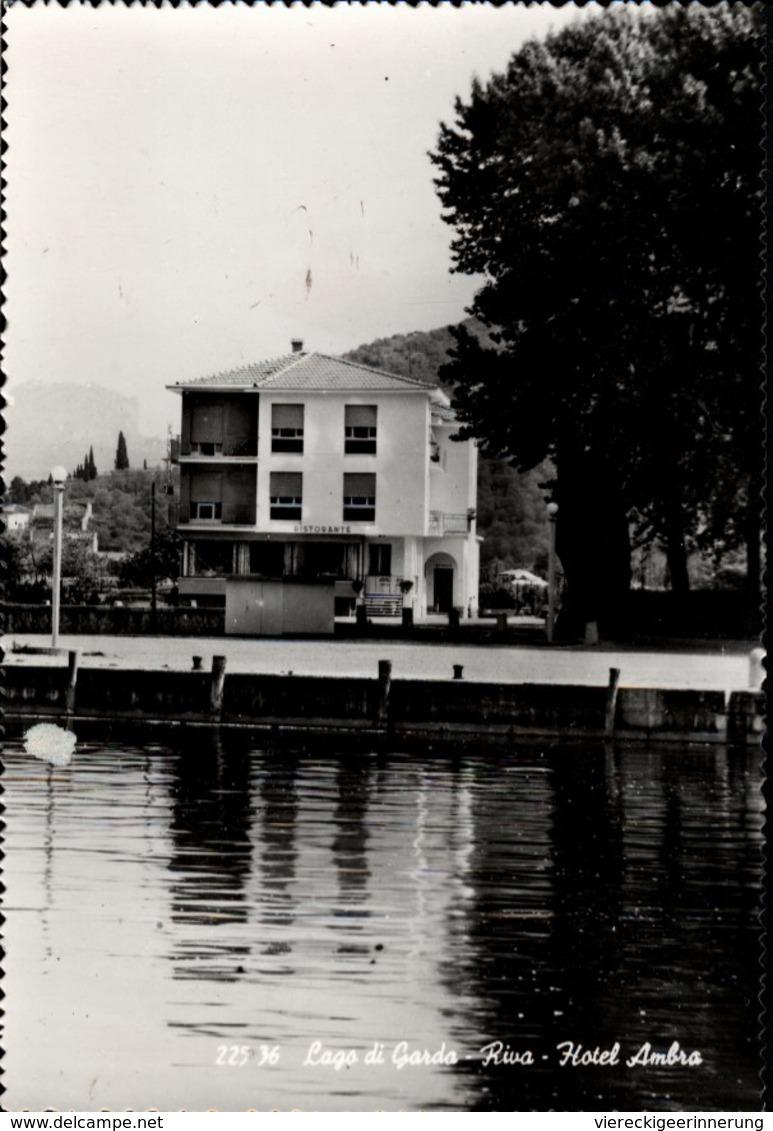 ! Mod. Ansichtskarte Riva, Lago Di Garda, Malcesine, Hotel Ambra - Italia