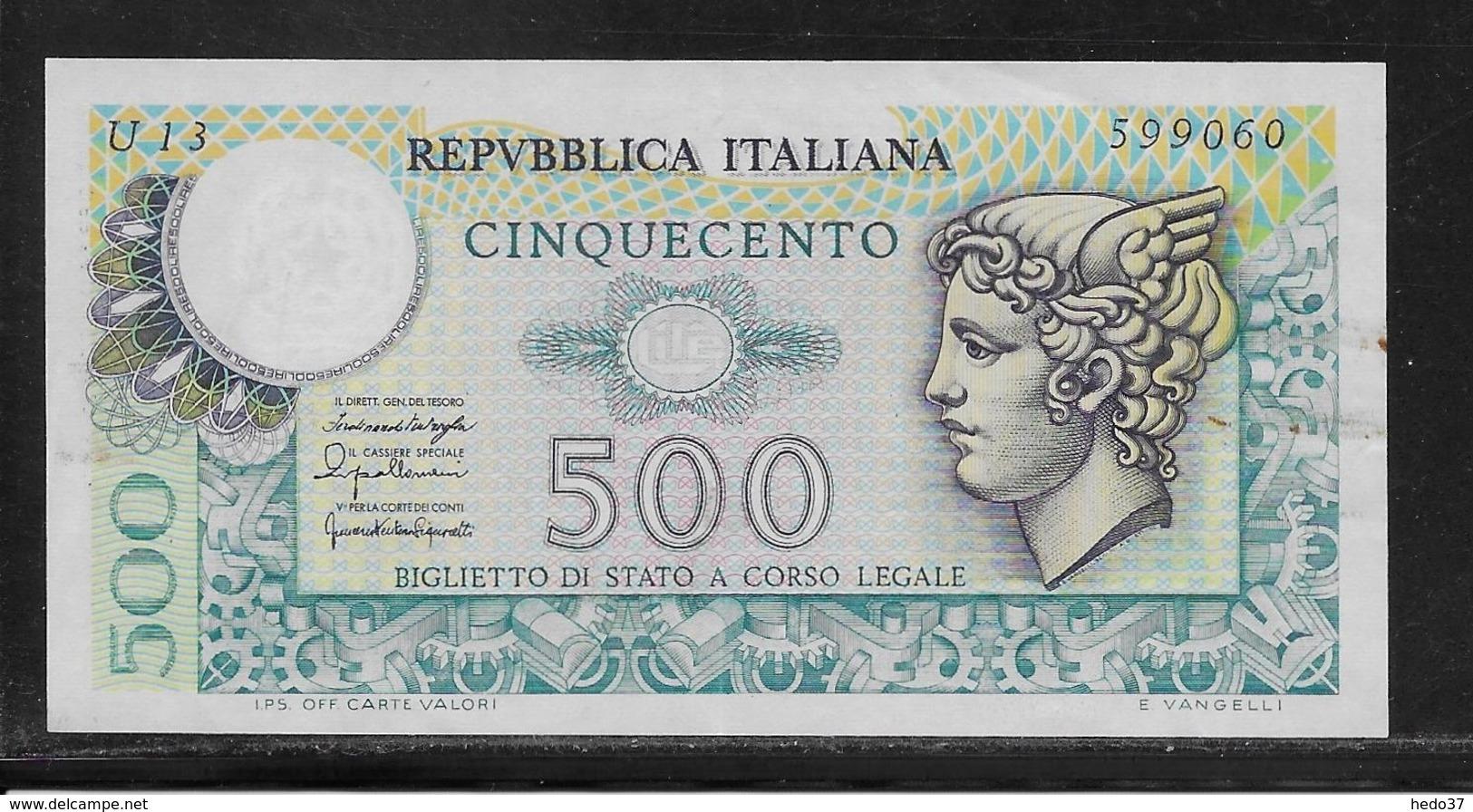 Italie - 500 Lire - Pick N°95 - SUP - [ 2] 1946-… : République