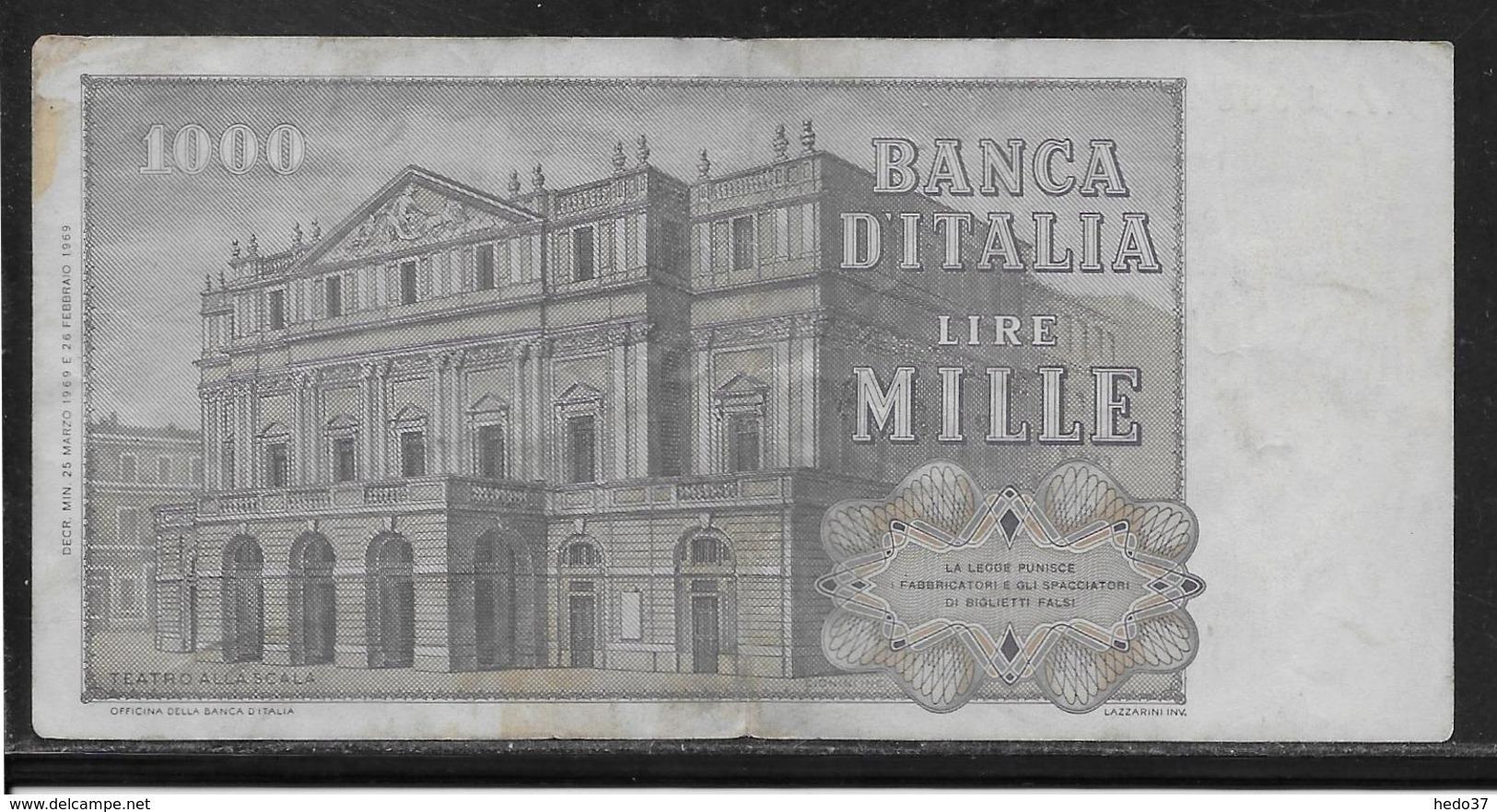 Italie - 1000 Lire - Pick N°101a - TB - [ 2] 1946-… : République