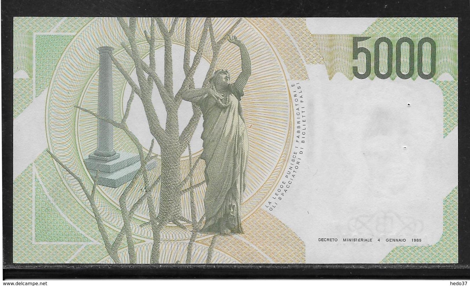 Italie - 5000 Lire - Pick N°111c - SUP - 5000 Lire