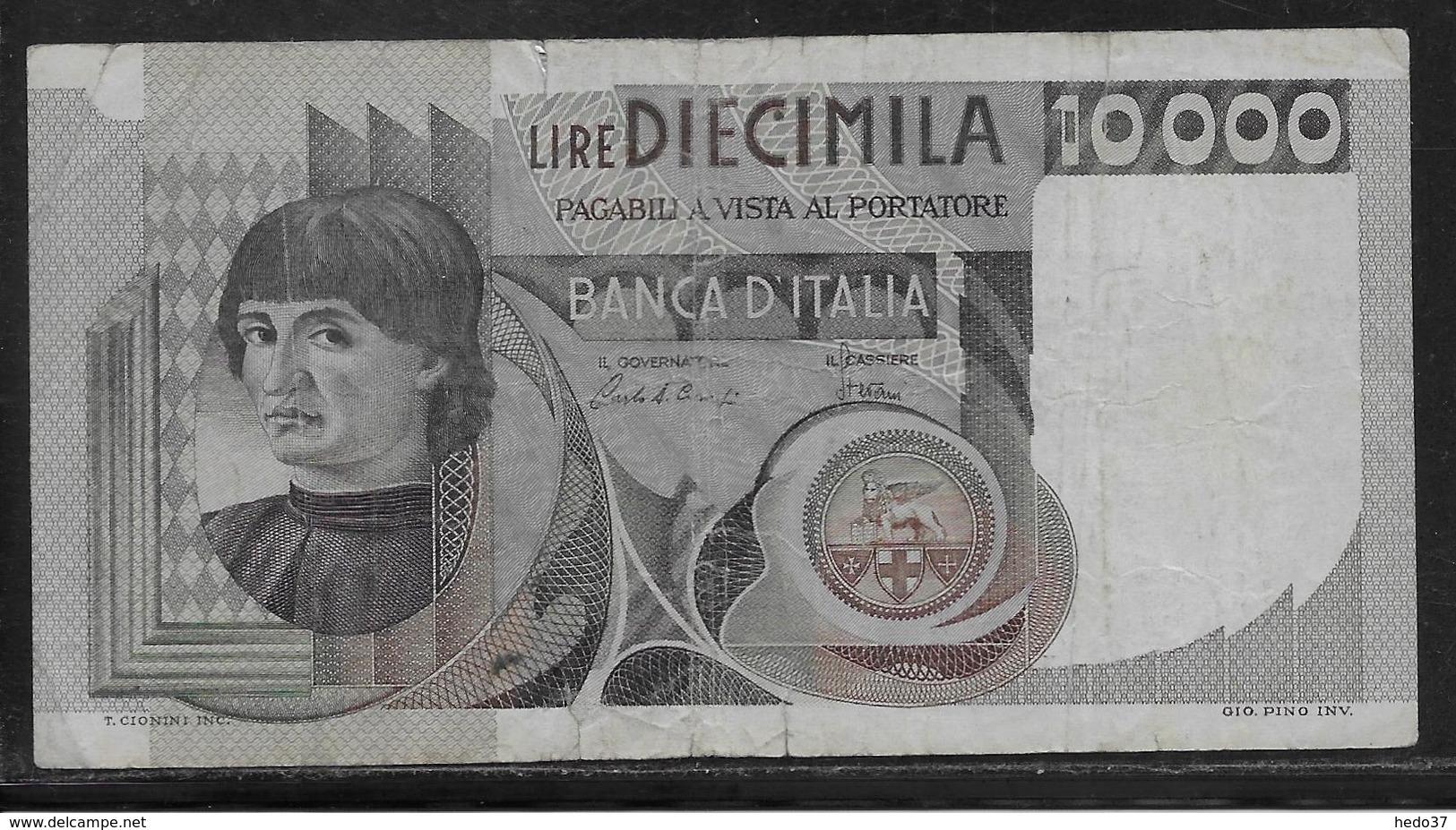 Italie - 10000 Lire - Pick N°106 - B/TB - [ 2] 1946-… : République