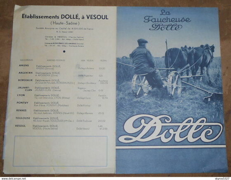 Publicité Faucheuse Dollé - Traktoren