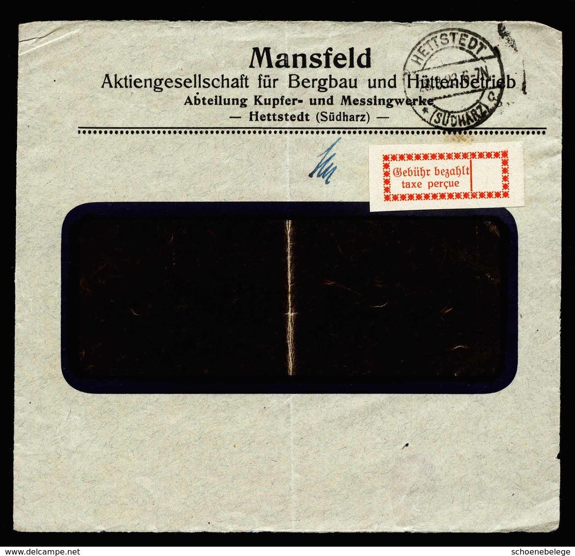 A5615) DR Infla Briefvorderseite Hettstedt 28.9.23 Gebührenzettel Mi.1b - Deutschland