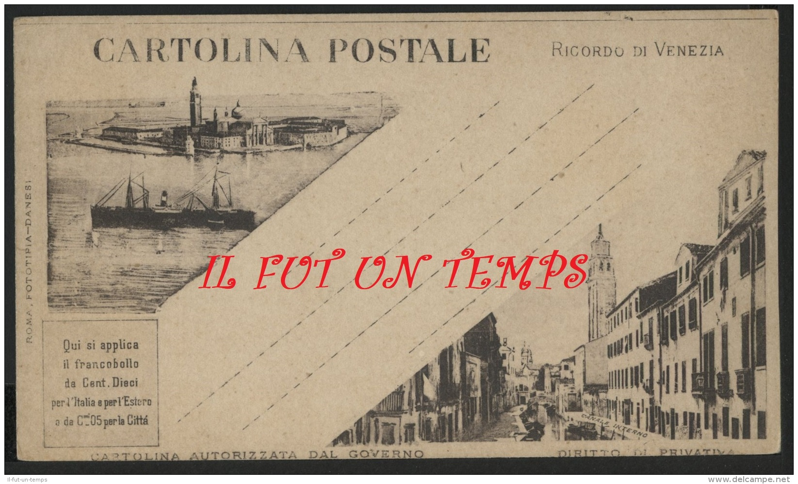 Ricordo Di VENEZIA - Cartolina Autorizzata Dal Governo - Venezia