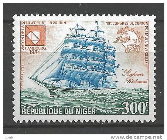 Niger 1984 Mi 896 MNH UPU - Boten