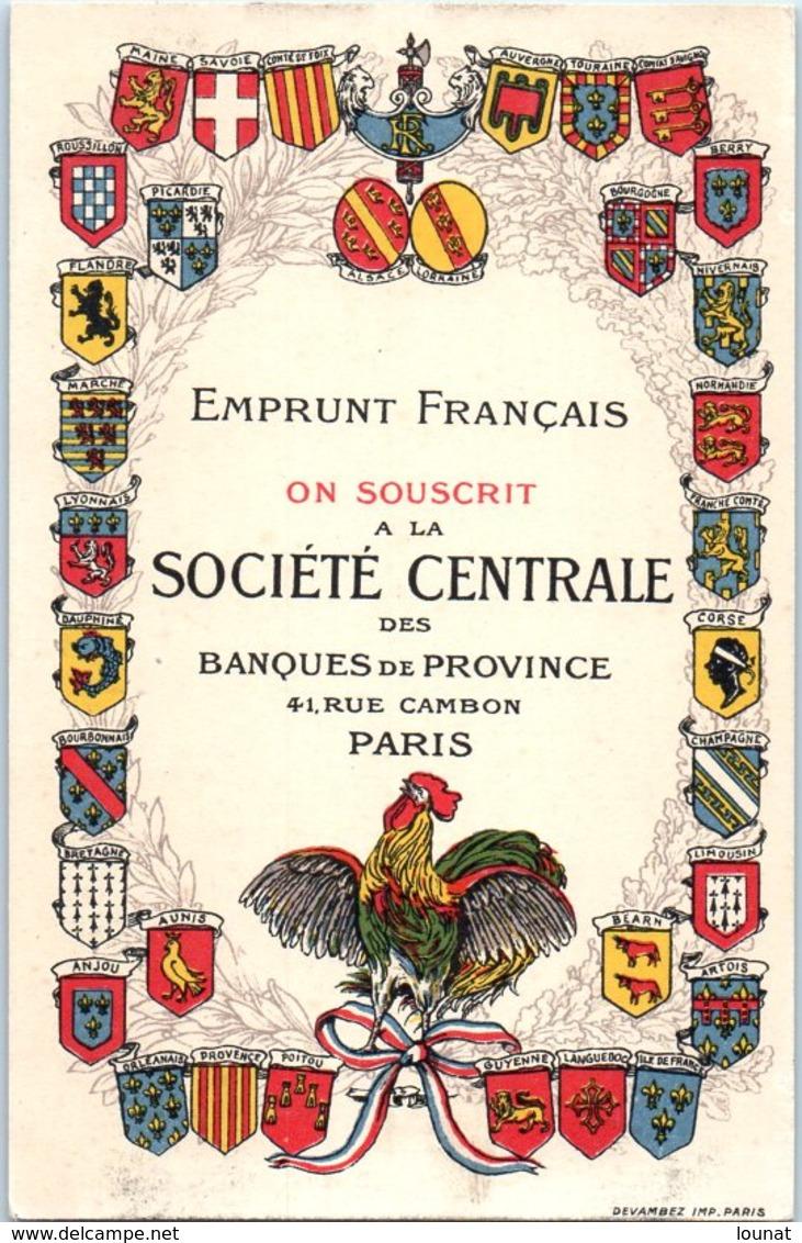 Emprunt Français - On Souscrit à La Société Central Des Banques De Province - Banque - Militaire - Banques