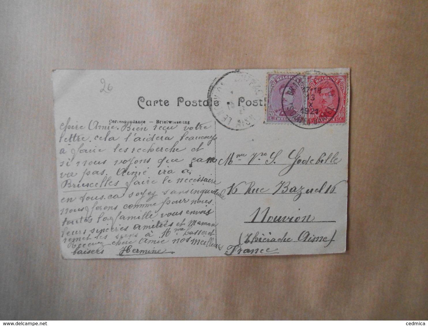 BRAINE-LE-COMTE. -INTERIEUR DE L'EGLISE 1921 - Braine-le-Comte