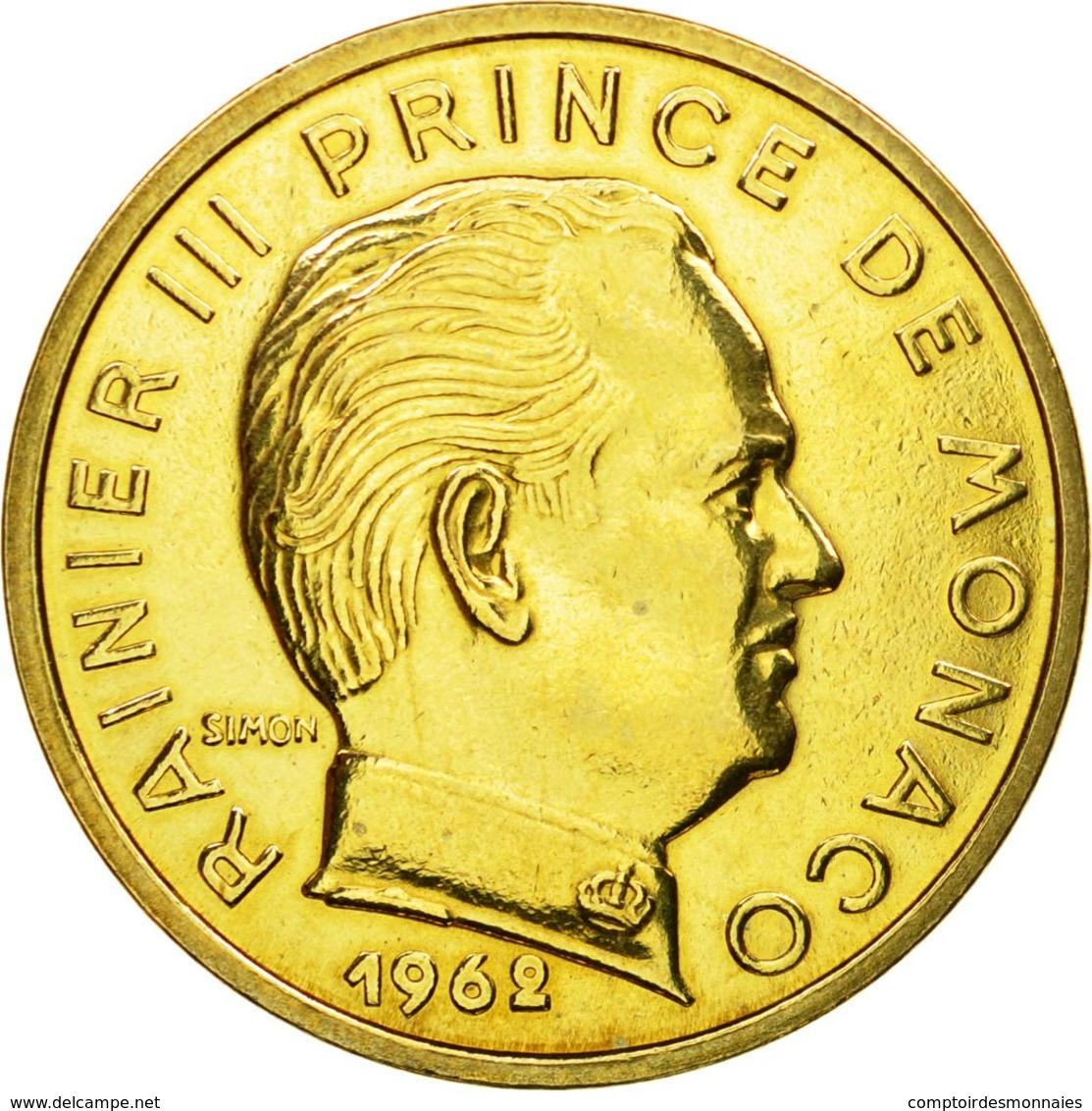 Monnaie, Monaco, Rainier III, 50 Centimes, 1962, Paris, ESSAI, SPL - Monaco