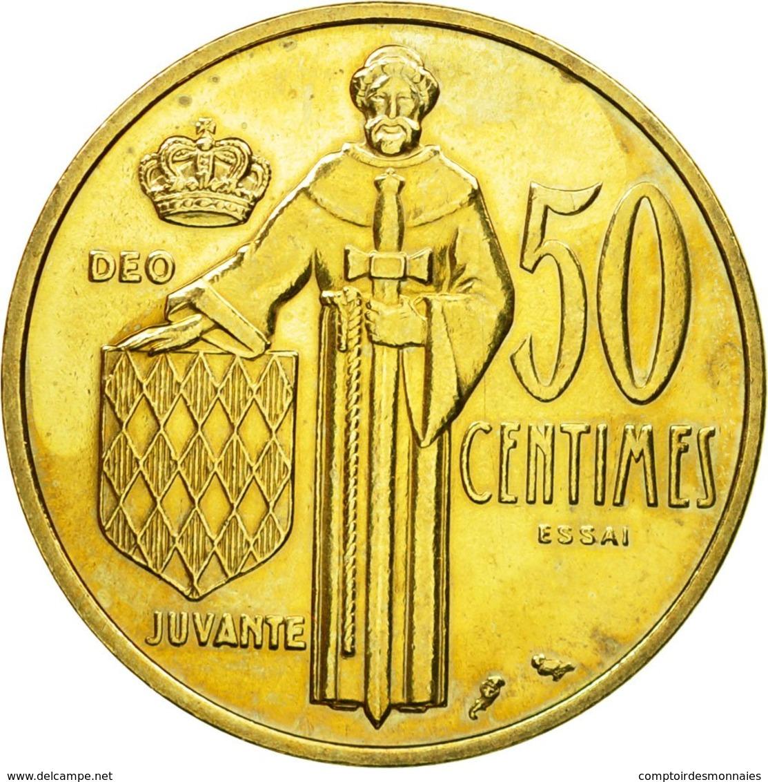 Monnaie, Monaco, Rainier III, 50 Centimes, 1962, Paris, ESSAI, SPL - 1960-2001 New Francs
