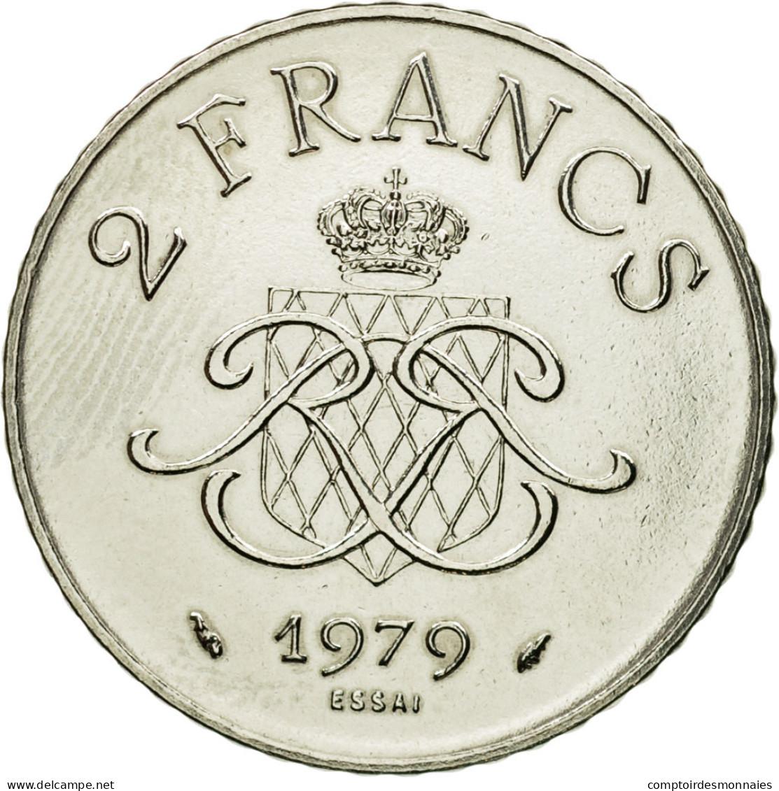 Monnaie, Monaco, Rainier III, 2 Francs, 1979, Paris, ESSAI, SPL+, Nickel - Monaco