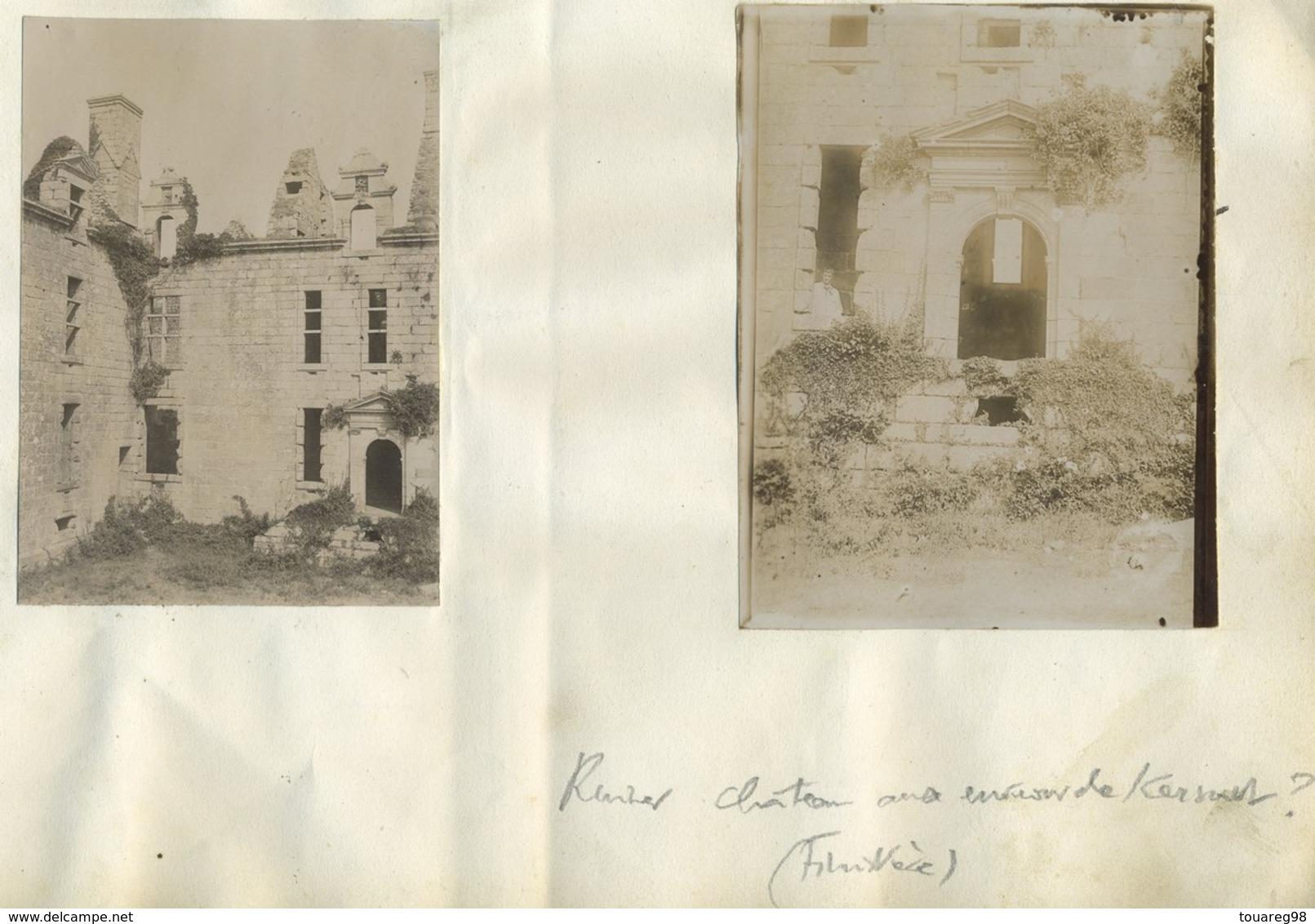 2 Photos. Ruines D'un Château Aux Environs De Kersaint-Plabennec. Finistère. Vers 1900. Bretagne. - Lieux