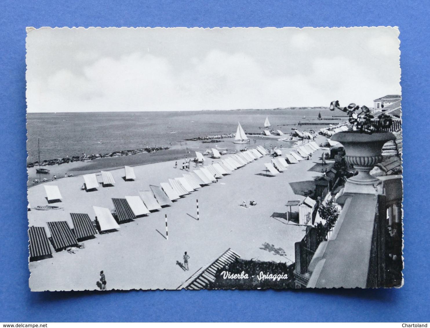 Cartolina Viserba - Spiaggia - 1954 - Rimini