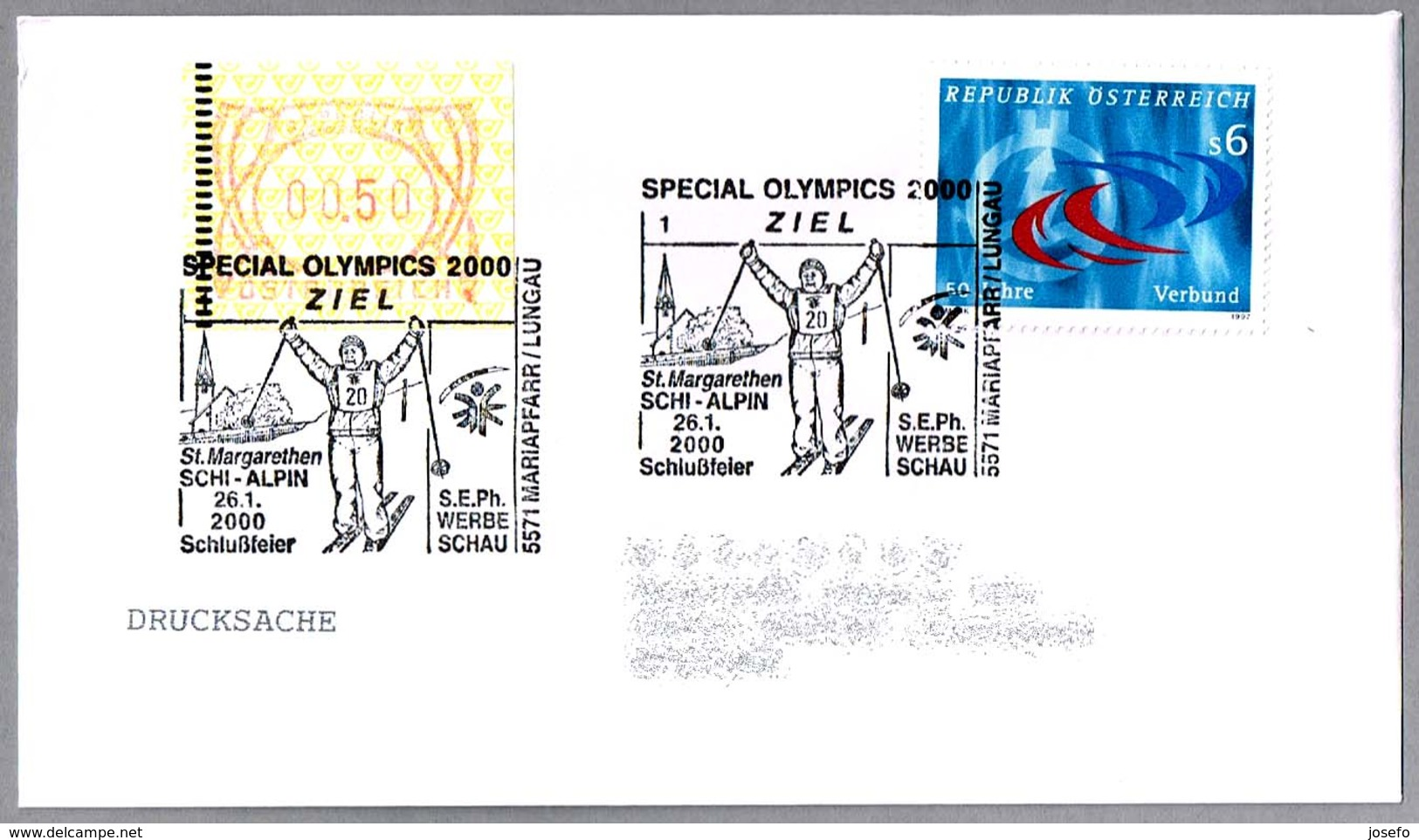 SPECIAL OLYMPICS 2000 - ZIEL. Schlussfeier. Mariapfarr 2000 - Handisport