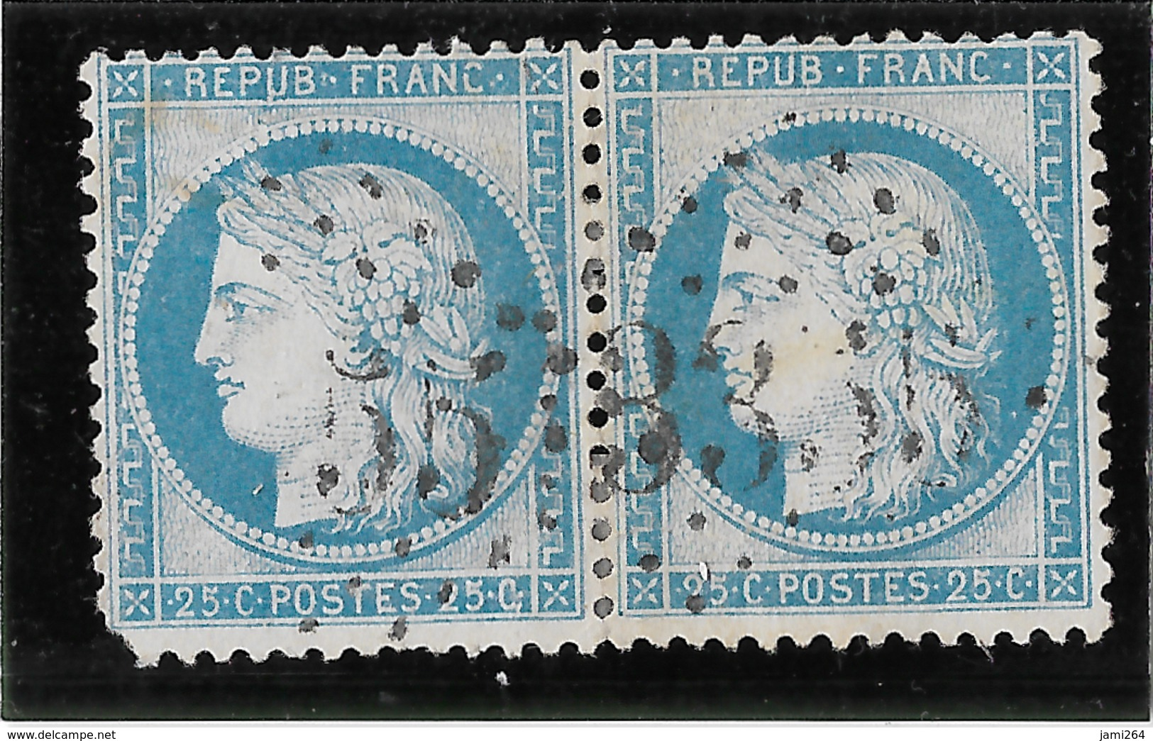 TIMBRES N°60/1  PAIRE 83/84 G3   ;GC 3355  SEGONZAC  ;TB - 1871-1875 Cérès