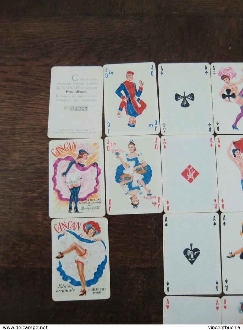Jeu De 58 Cartes à Jouer Philibert French Can Can Coins Dorés Illustration Albarran Numéroté (n°4347) - Cartes à Jouer Classiques