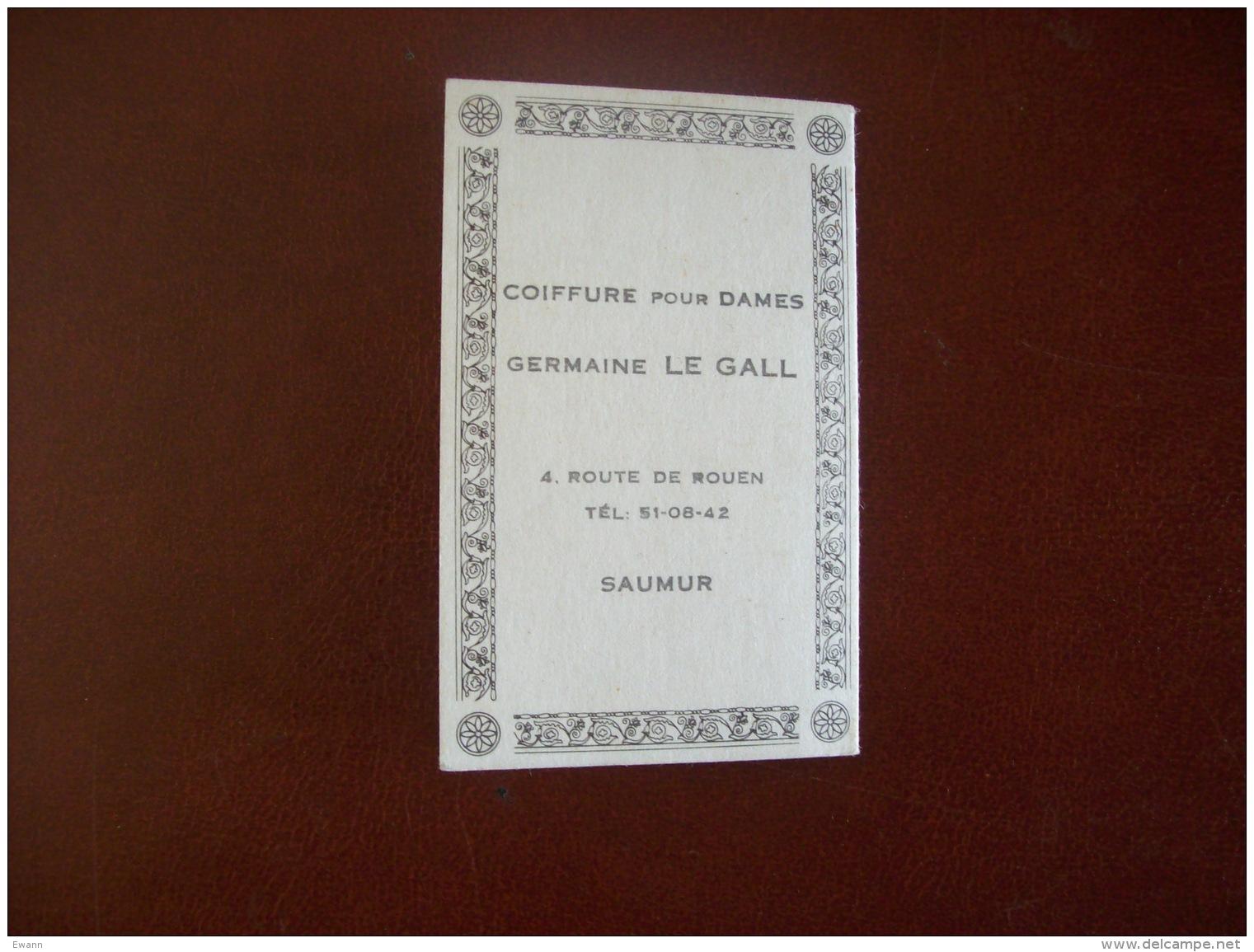 Calendrier Parfumé De 1967: Parfum Dédicace, Cheramy, Paris - Publicité Coiffure G.Le Gall à Saumur (49) - Petit Format : 1961-70