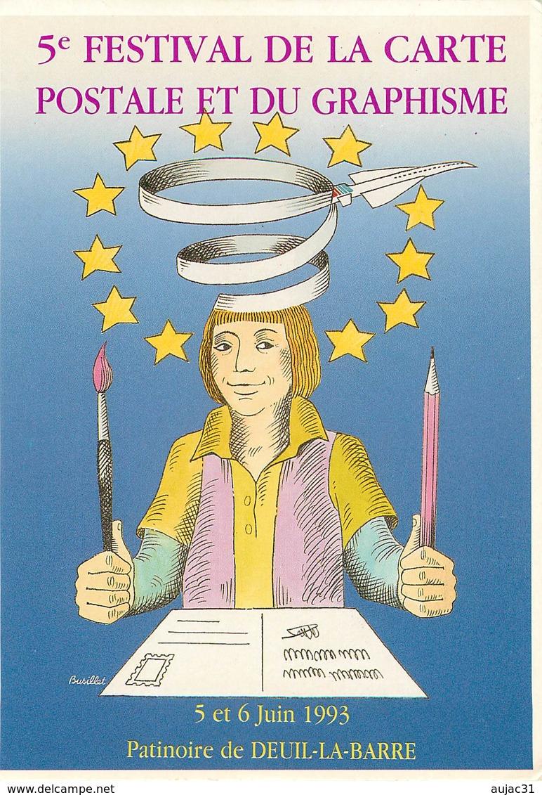 Illustrateurs - Illustrateur R. Busillet - Enghien Les Bains - Patinoire De Deuil La Barre - Autographe - Signature - Illustratoren & Fotografen