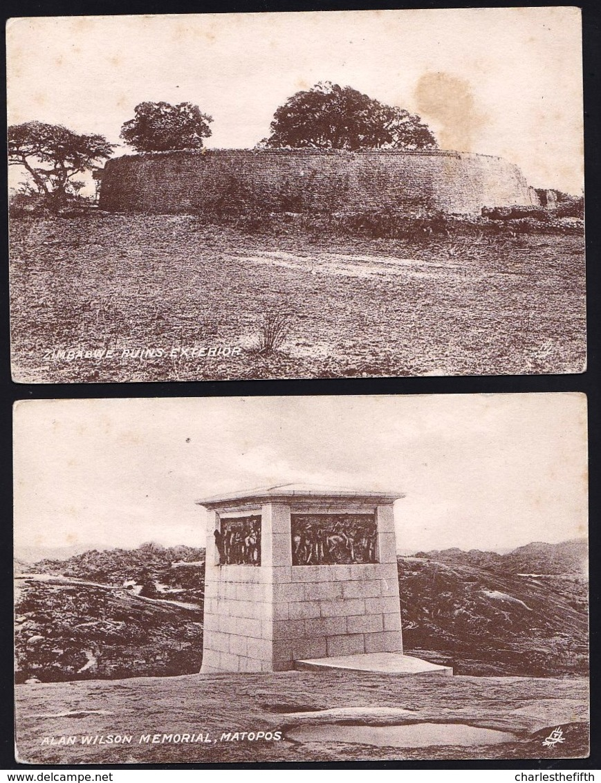 6 X OLD TUCK'S CARDS --- ZIMBABWE / RHODESIA - MATOPOS - ZAMBESI RIVER  - RUINS - Zimbabwe