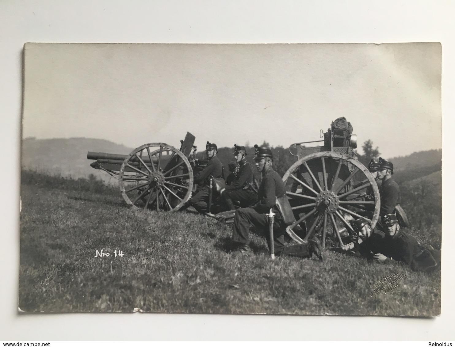 AK Kanon Geschutz Artillerie Schweizer Armee Suisse Zwitserland - Ausrüstung