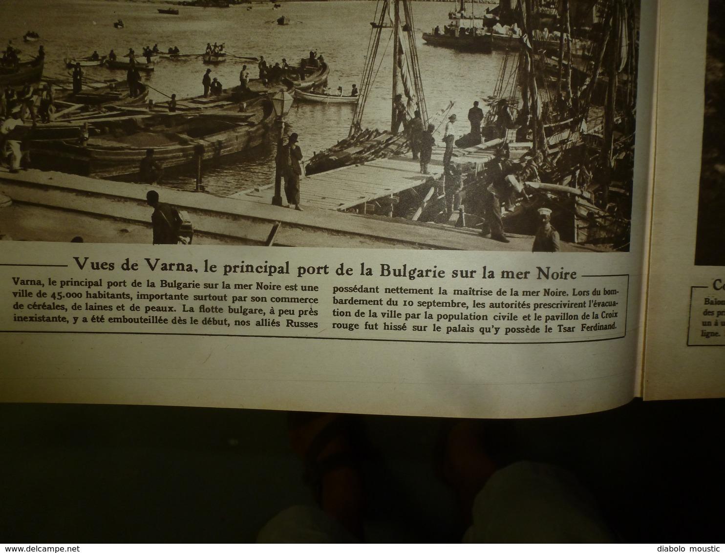 1916 LE MIROIR:Grecs à Salonique;Varna Bombardé;Canon De 400;L'aviateur W. Leefe Robinson Abat Un Zeppelin;Salamine;etc - Français