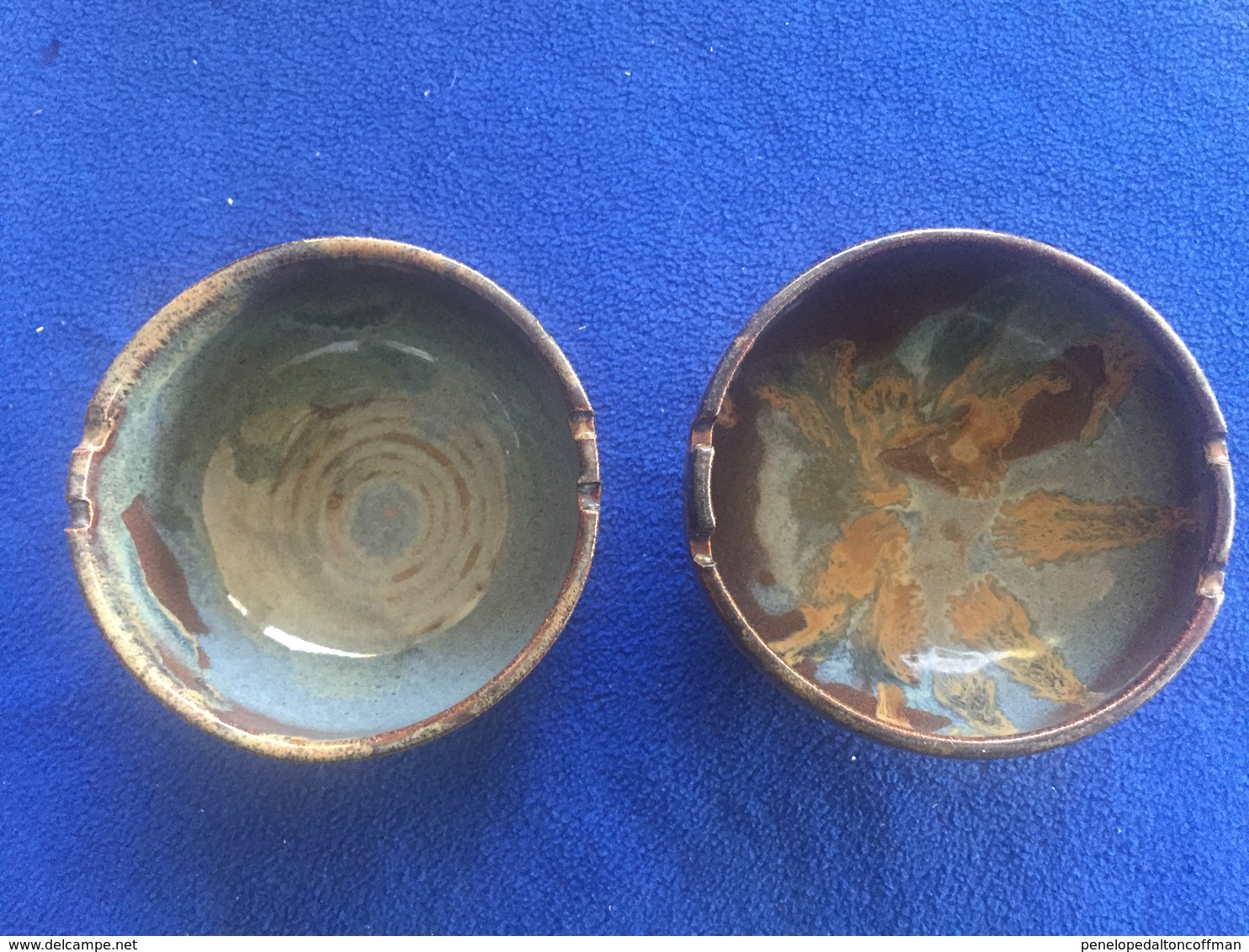Set Of Two Hand Made Pottery Rice Bowls By Renaissance - Dishes