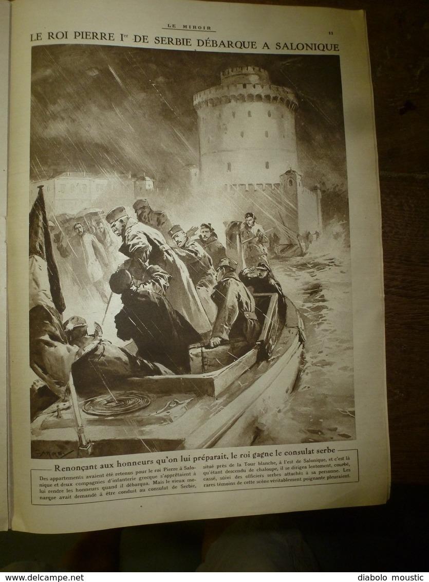 1916 LE MIROIR: Le Chien-mascotte Fume La Pipe;Prisonniers Hameln;Ypres;Aviateurs Fr Internés à Hospenthal,Andermat;etc - Revues & Journaux