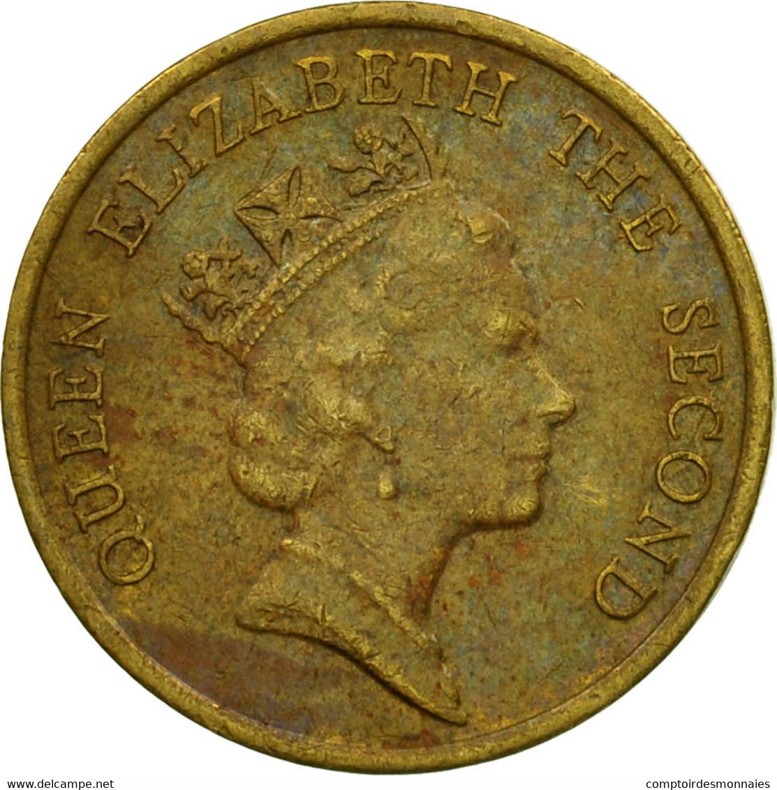Monnaie, Hong Kong, Elizabeth II, 10 Cents, 1989, TTB, Nickel-brass, KM:55 - Hong Kong