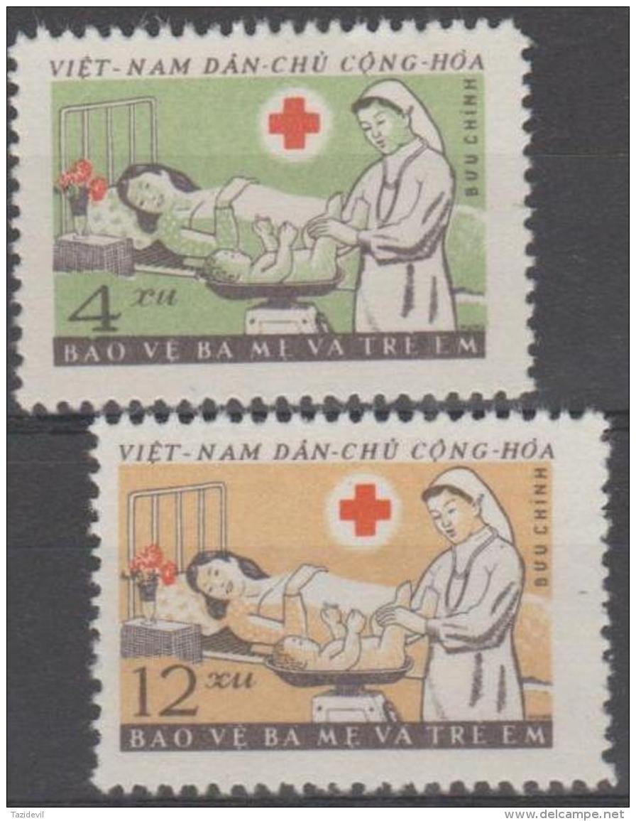 NORTH VIETNAM - Mint No Gum As Issued 1961 Children's Day, Red Cross. Scott 158-159 - Vietnam