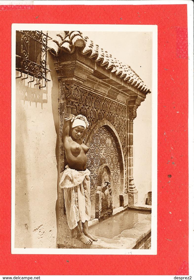 Femme Seins NU Cpsm Animée Jeune Cariatide   570  La Cigogne - Afrique Du Nord (Maghreb)
