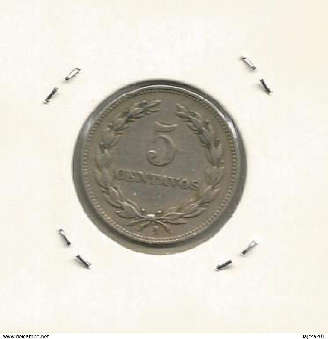 El Salvador 5 Centavos 1974. - Salvador